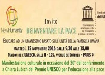 Social-One all'UNESCO - Reinventing Peace